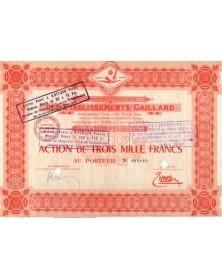 Cie Française des Ets Gaillard
