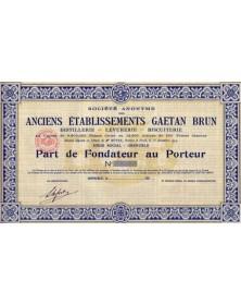 S.A. des Anciens Ets Gaetan Brun Distillerie - Levurerie - Biscuiterie