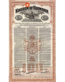 Kingdom of Roumania - 4% Consolidation Loan 1922. 100£