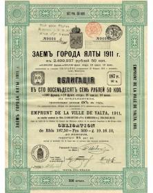Ville de Yalta - Emprunt of 1911