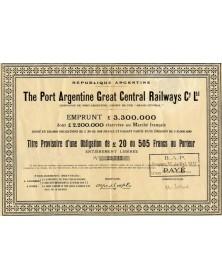 The Port Argentine Great Central Railways Cy Ltd.