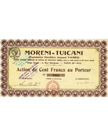 Moreni -Tuicani (Exploitation Pétrolifère Armand Taubès)