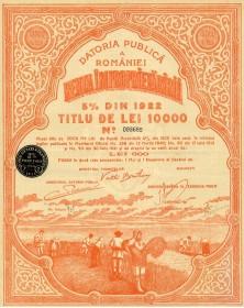 Renta Improprietaririi -5% Din 1922