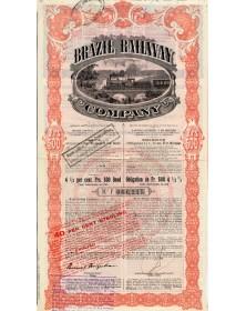 Brazil Railway Co. - Cie de Chemins de Fer au Brésil - Premier Emprunt 4,5% à 60 ans