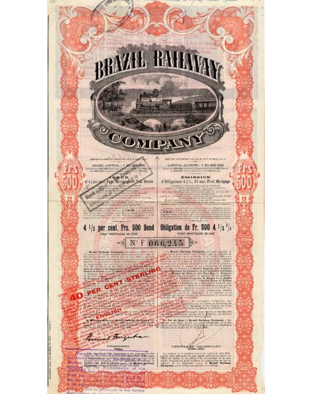 Brazil Railway Co. - First 4.5% Mortgage Loan 60 Years