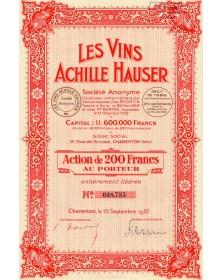 Les Vins Achille Hauser