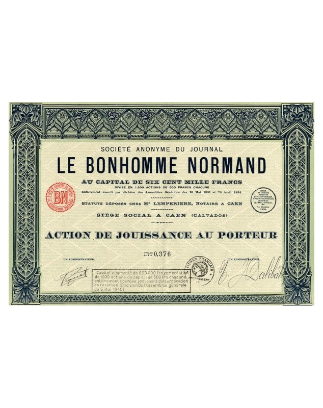 S.A. du Journal Le Bonhomme Normand