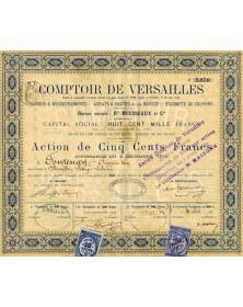 Comptoir de Versailles. Hte Mousseaux et Cie