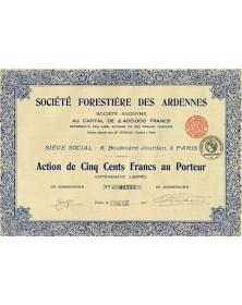 Sté Forestière des Ardennes