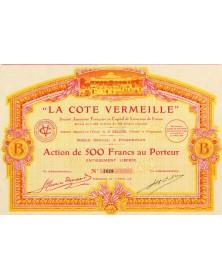 ''La Côte Vermeille'' S.A. Française