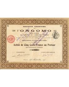 Sté Anonyme de l'Ongomo (Congo Français)