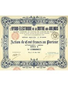 L'Hydro-Electrique de la Mothe-aux-Aulnais