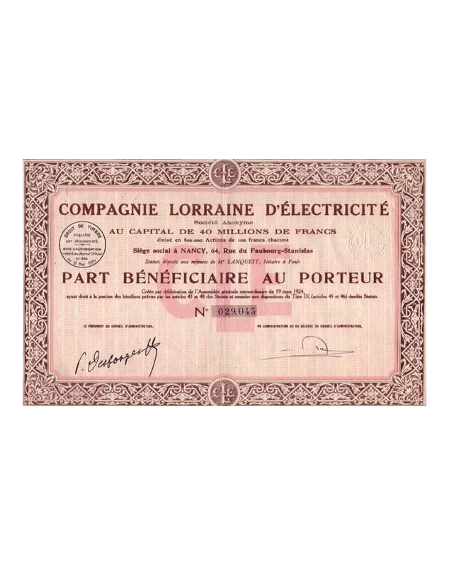 Cie Lorraine d'Electricité
