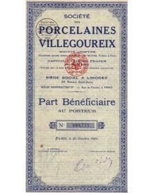 Sté des Porcelaines Villegoureix