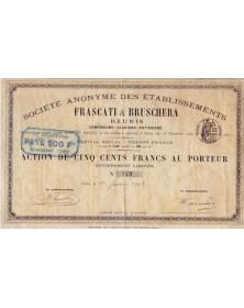 S.A. des Ets Frascati & Bruschera Réunis. Confiseurs - Glaciers - Pâtissiers.