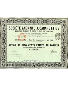 S.A. A. Canard & Fils, Manufacture Française de Coiffes et Cuirs pour Chapellerie