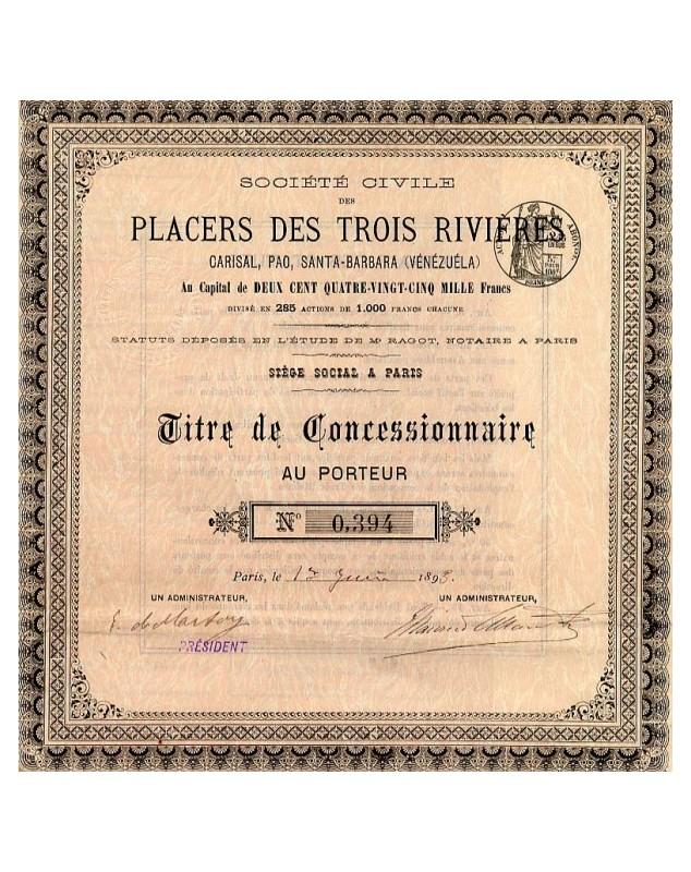 Sté Civile des Placers des Trois Rivières
