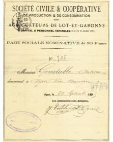 Sté Civile & Coop. de Production & de Consommation des Agriculteurs de Lot-et-Garonne