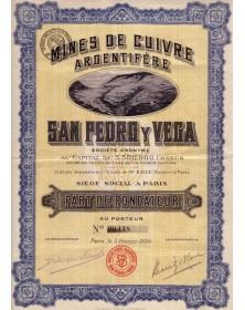 Mines de Cuivre Argentifère San Pedro y Vega
