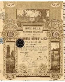 Regatul Romaniei Ministerul Finantelor Datoria Publica