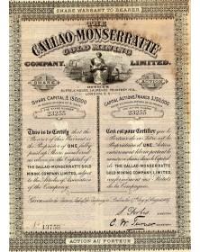 The Callao-Monserratte Gold Mining Co., Ltd.