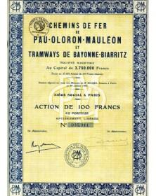 Chemins de Fer de Pau-Oloron-Mauléon et Tramways de Bayonne-Biarritz