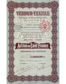 Verdun-Textile Fabrique de Soie Artificielle et Toutes Applications