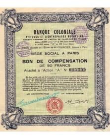 Banque Coloniale d'Etudes et d'Entreprises Mutuelles