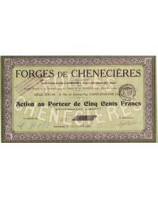 Forges de Chenecières (Côte d'Or)