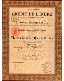 Crédit de L'Indre. U. François, Johannet FIls & Cie