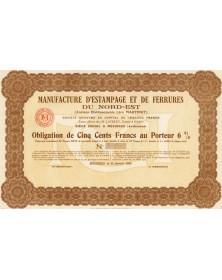 Manufacture d'Estampage et de Ferrures du Nord-Est. Anciens Ets Léon Martinet