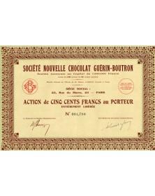 Sté Nouvelle Chocolat Guérin-Boutron