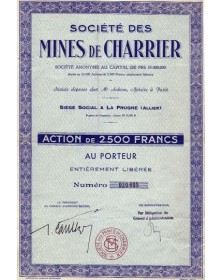 Sté des Mines de Charrier