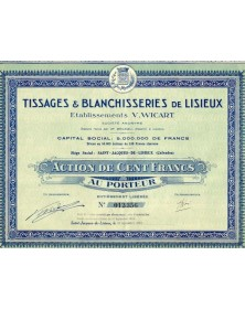 Tissages & Blanchisseries de Lisieux. Ets V. Wicart