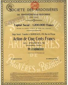 Sté des Ardoisières de Bagnères-de-Bigorre
