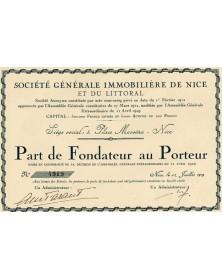 Sté Générale Immobilière de Nice et du Littoral
