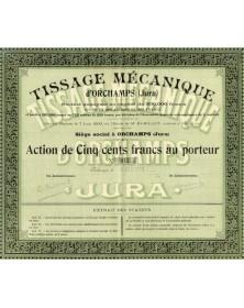 Tissage Mécanique d'Orchamps (Jura)