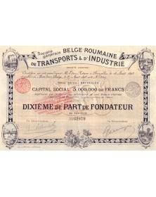 Sté Gle Belge-Roumaine de Transports & d'Industrie