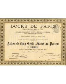 Docks de Paris, Magasins Généraux agréés par l'Etat