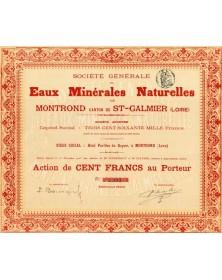Sté Générale des Eaux Minérales Naturelles de Montrond