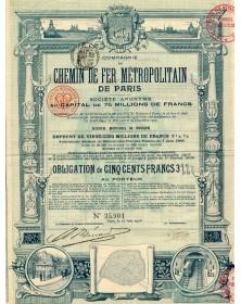 Cie du Chemin de Fer Métropolitain de Paris