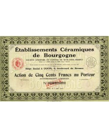 Ets Céramiques de Bourgogne