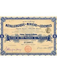 Sté Métallurgique et Minière des Cévennes. 1900