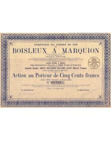 Cie du Chemin de Fer de Boisleux à Marquion