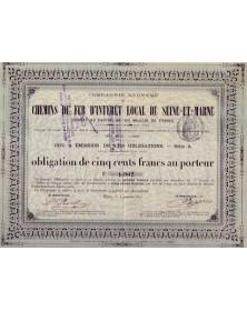 Cie Anonyme des Chemins de Fer d'Intérêt Local de Seine-et-Marne