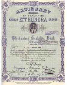 Stockholms Anskilda Bank Aktiebolag
