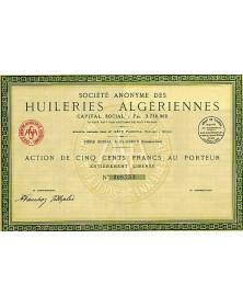 Sté Anonyme des Huileries Algériennes