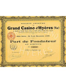 S.A. du Grand Casino d'Hyères (Var)