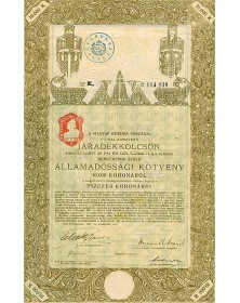 Kingdom of Hungary - 6% Bond 10,000 Kr, 1915