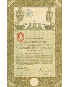 Royaume de Hongrie - Emprunt en rentes 6%